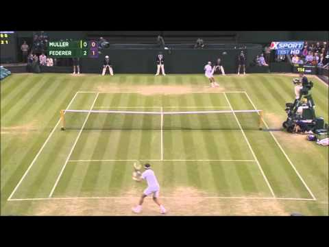 Roger Federer vs Gilles Muller (Wimbledon 2014)