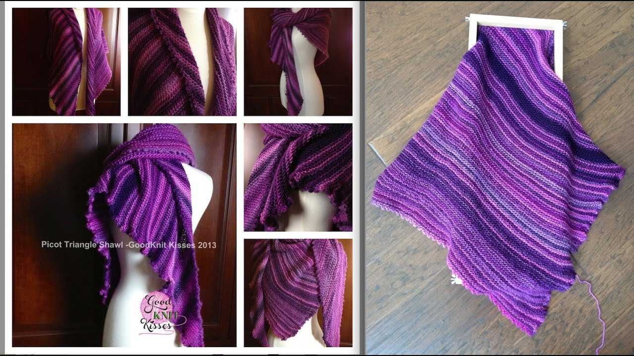 Loom Along Picot Triangle Shawl Youtube