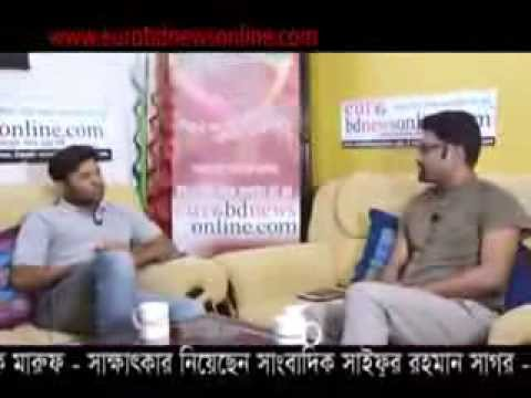 Bangladeshi Film Actor Kazi Maruf Interview With Shaifur Rahman Sagar By Eurobdnewsonline Com video