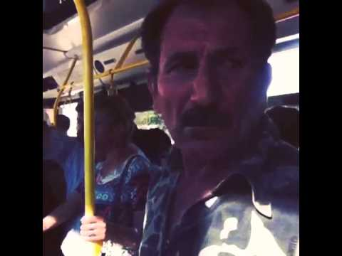 Otobüste taciz edilen kadın.
