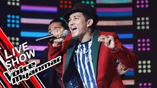 """A Day: Uptown Funk """"Mark Ronson ft. Bruno Mars"""" - Live Show - The Voice Myanmar 2019"""