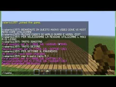 Video Tutorial - Come usare World Edit e World Guard per Minecraft 1.2.5
