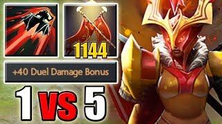[+1144] Impossible Legion Commander 1 vs 5 Build in Ability Draft [Blink + Duel + Repel] Dota 2