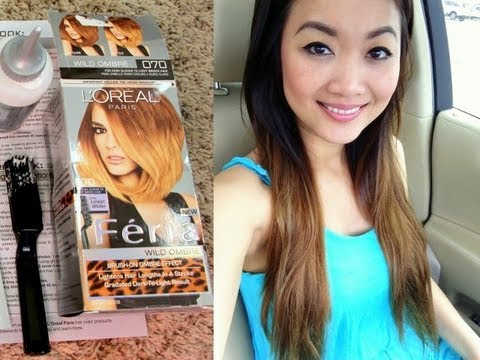 DIY L'oreal Feria Wild Ombre Hair Tutorial & Review / First Impression ...