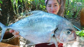 Yummy Giant Sea Fish Crispy Stir Fry - Giant Sea Fish Cooking - Cooking With Sros