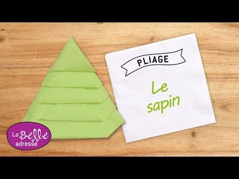 Pliage de serviette en papier forme papillon - Comment faire un sapin en papier ...