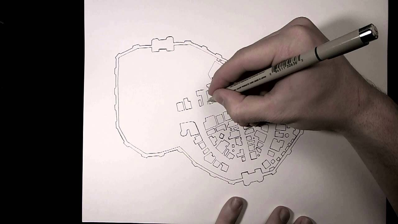 Drawing A City Map Youtube