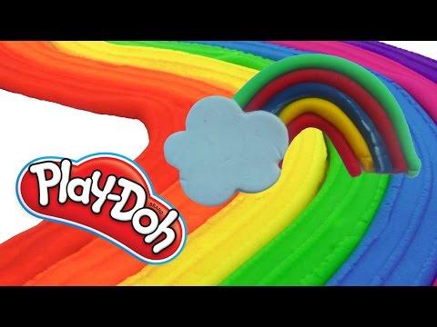 Веселая Радуга в Облаке из ПЛЕЙ ДО - Красивая радуга из PLAY DOH