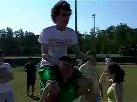 Ultimate Frisbee Piggy-Back Rides