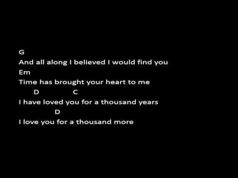 A Thousand Years   Christina Perri Chord  Lyric