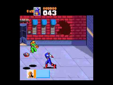 Captain America and the Avengers Level 1 (SNES) Video