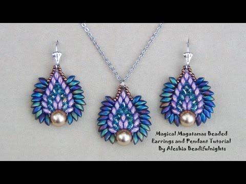 Magical Magatamas Beaded Earrings and Pendant Tutorial
