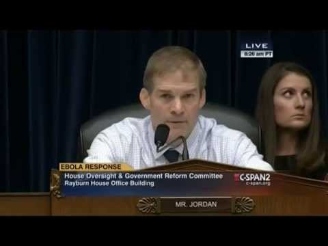 Rep. Jim Jordan Grills HHS Official Over Wasteful Spending Unrelated to Ebola Vaccine