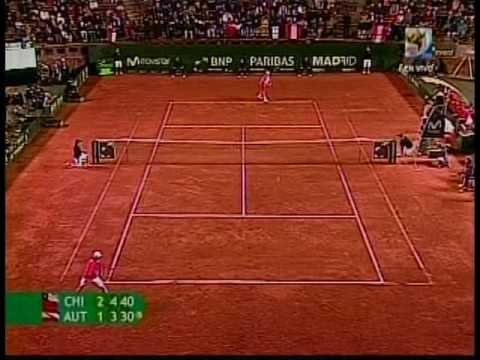 Nicolas Massu (CHI) vs. Jurgen Melzer (AUT) Copa Davis 2009 Repechaje (Ultimos Games) Video