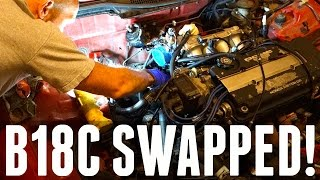 THE B18 SWAP FITS!!! - Honda Civic Ek9 Build