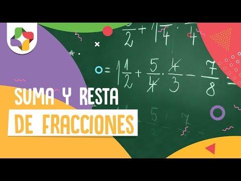 Suma y Resta de Fracciones con Diferente Denominador - Aritmética - Educatina