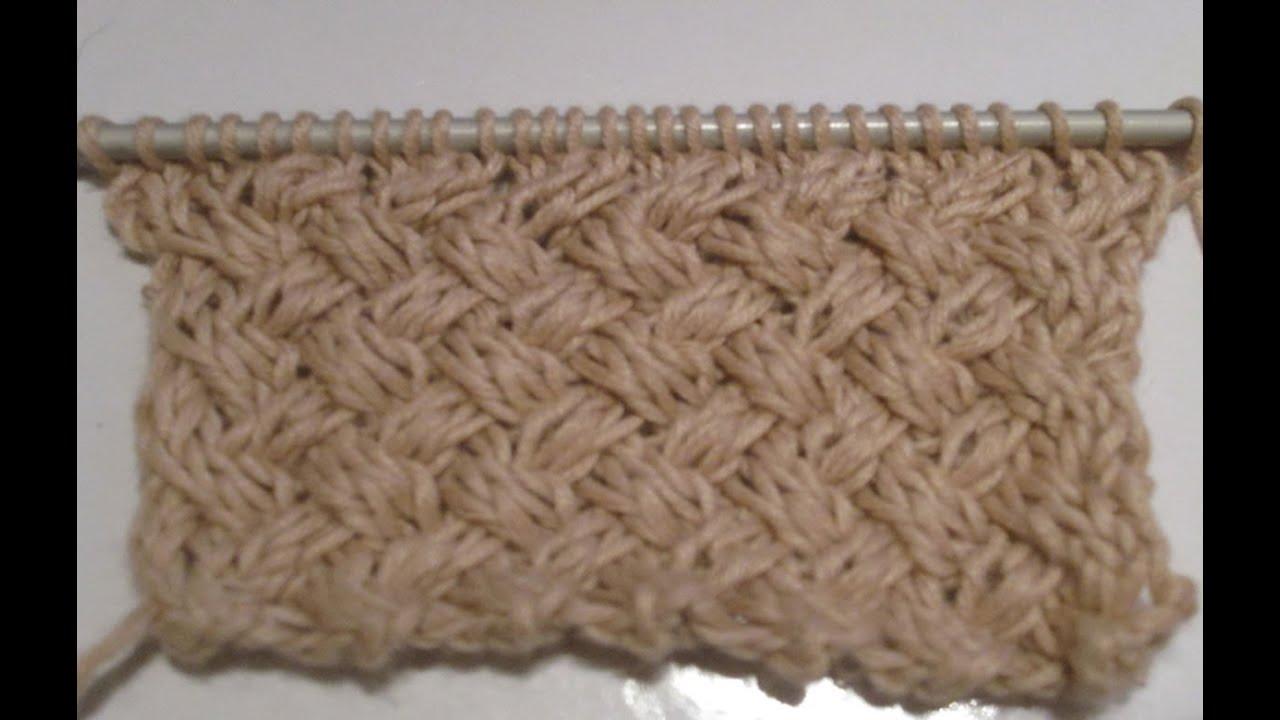 Tuto tricot apprendre a tricoter le gros point de vannerie ou point tresse youtube - Point tricot facile joli ...