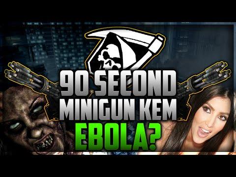 "CoD Ghosts: 93 SECOND ""MINIGUN"" KEM STRIKE - EBOLA OVERREACTION"