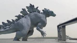 Godzilla Composition With Live Footage