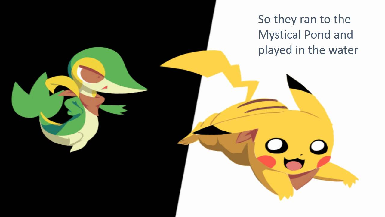 Snivy Pikachu Love Story 1
