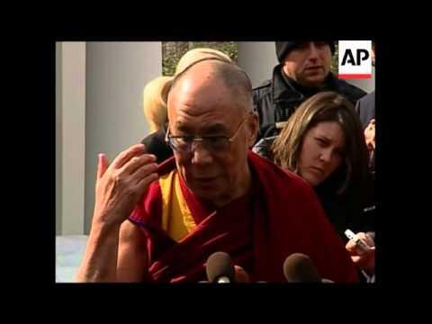 WRAP Dalai Lama at WH; speaks outside, analyst, Tibetans