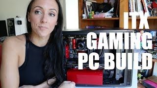 RED AND BLACK ITX GAMING PC BUILD i5-7600K Z270 GTX1070