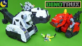 Dinotrux Toys BAD GUY Talking D-Structs Battle Ty Rux Revvit Dozer Destrux Dinosaur Toys Video
