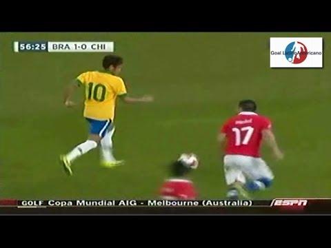 Brasil vs Chile 2-1 - Resumen & Goles - 19/11/2013 - Amistoso Internacional