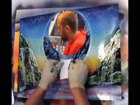 spray paint art 2 youtube. Black Bedroom Furniture Sets. Home Design Ideas
