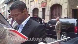 Denzel Washington - Signing Autographs at The Late Show with David Letterman