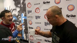Sakuraba & Wanderlei Silva mess around as fans show Saku love!
