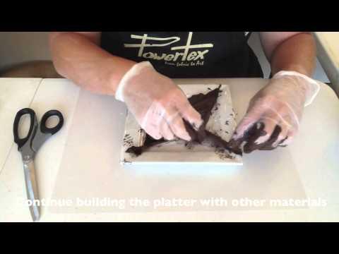 'Fabric Platter' created with Powertex Fabric Hardener