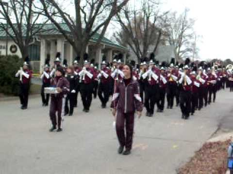 Wakefield High School Marching Band in the Wake Forest Christmas Parade 2009