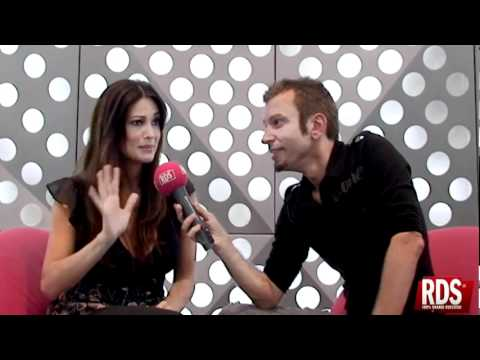 Claudio Guerrini e Manuela Arcuri a RDS 2