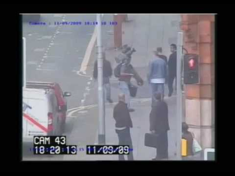 CCTV footage of the BBC's Paresh Patel being attacked by two yobs, and hitting back to defend himself - http://bit.ly/1uw6tc.