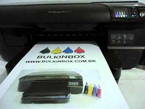 IMPRESSORA HP OFFICEJET PRO 8100 COM BULKINK - TINTA PIGMENTADA - BULKINBOX