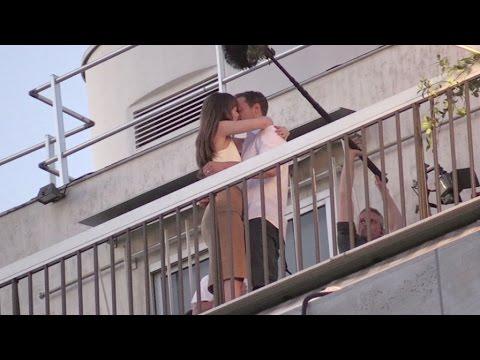 Dakota Johnson and Jamie Dornan Kiss on the 50 Shades of Grey set in Paris