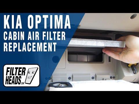 on Kia Optima Cabin Air Filter
