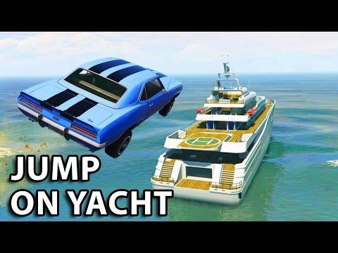 GTA V - 2 Fast 2 Furious Jump on yacht Scene