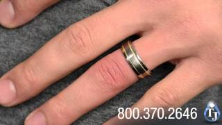 Titanium and Gold Ring by Edward Mirell, 14kt Gold Beaded Inlay 6mm