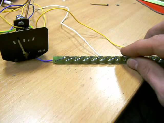 Емкостной датчик уровня топлива на ATMega8A своими руками