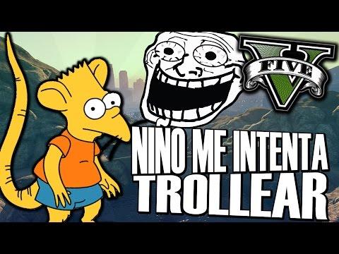 NIÑO TROLL TONTO ME INTENTA TROLLEAR   TROLLEANDO A UN NIÑO   TROLLEANDO EN GTA V #103