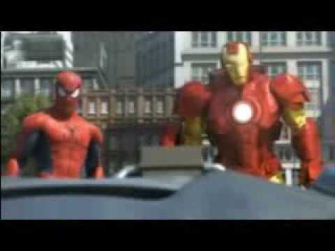 Rise Of The Machines starring Spiderman,Hulk, and Ironman