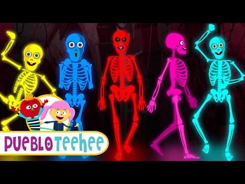 Download Cinco Esqueletos Salieron Una Noche - Canciones Infantiles | Pueblo Teehee Mp4 baru