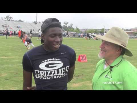 Grant Holloway Interview - Grassfield High School (JR WR 6-3 190)
