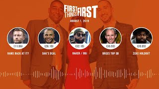 First Things First Audio Podcast (8.1.19) Cris Carter, Nick Wright, Jenna Wolfe | FIRST THINGS FIRST