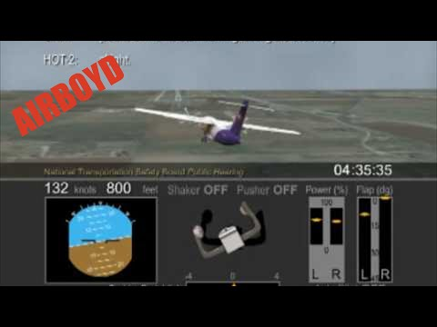 NTSB Animation Empire Airlines Flight 8284 operating FedEx owned ATR-42 N902FX