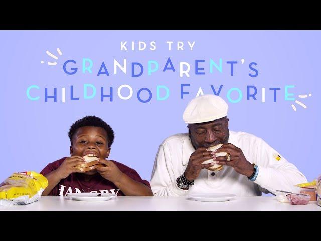 Kids Try Their Grandparent39s Childhood Favorite Food  Kids Try  HiHo Kids