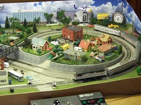 Theresa 39 s ho model train layout youtube - Ho train layouts for small spaces image ...
