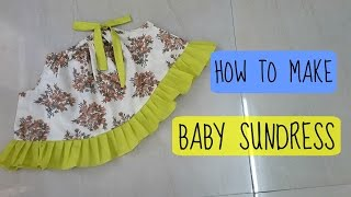 How to make Baby Sundress | easy summer dress | anjalee sharma